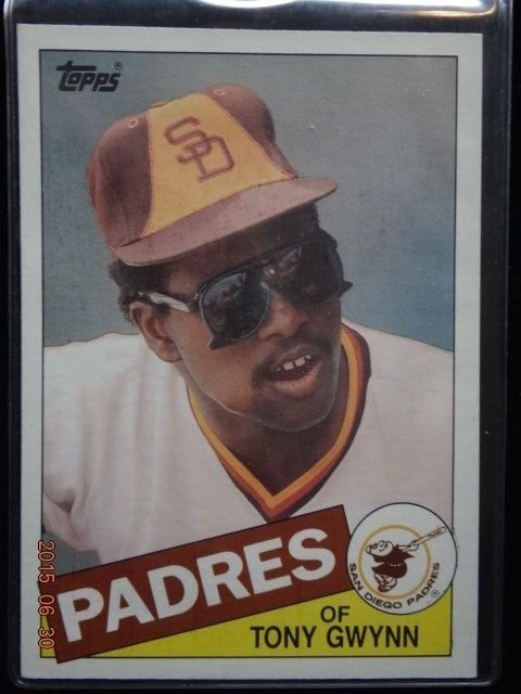 "1985 topps #5 tony gwynn san diego padres 5"" x 7"" baseball card hof from $1.24"