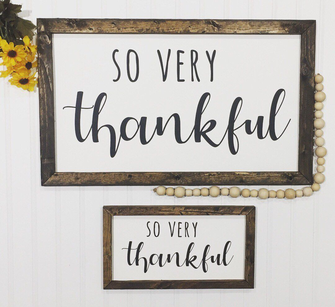 Excited To Share This Item From My Etsy Shop So Very Thankful Sign Thankful Sign Signs Thankful