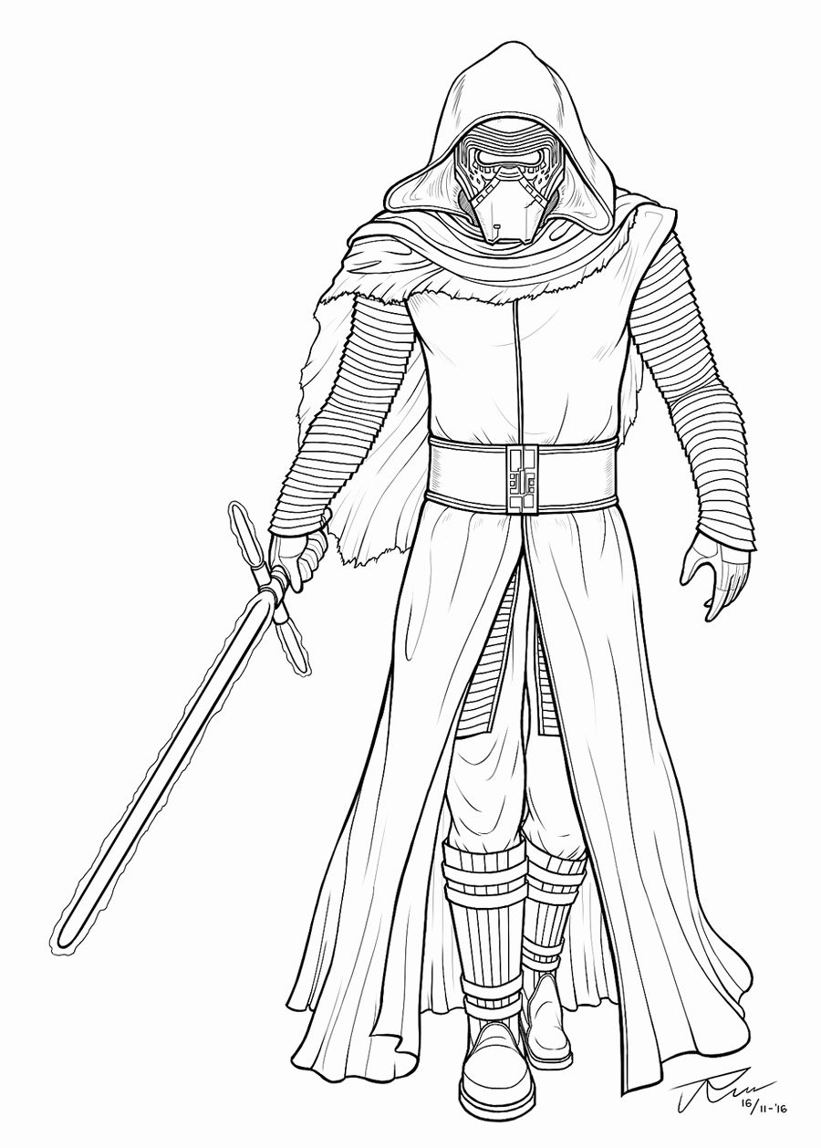 Kylo Ren Coloring Page Beautiful Kylo Ren Lineart By Rousanilmy On
