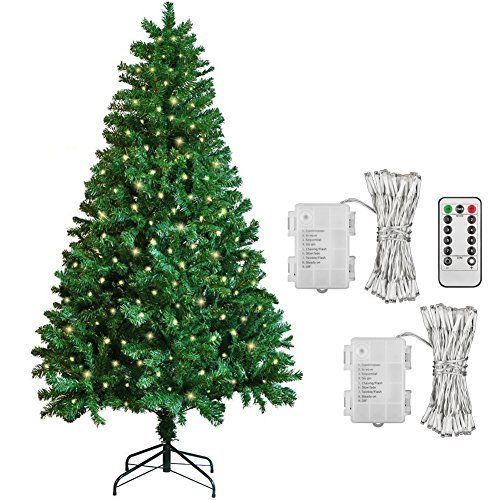 6ft Artificial Christmas Tree 600 Tips 2 Pack 100 Led Outdoor