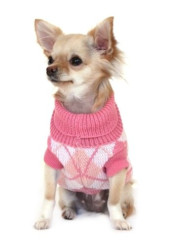 Pink Argyle Sweater Apparel Sweater Posh Puppy Boutique Woof