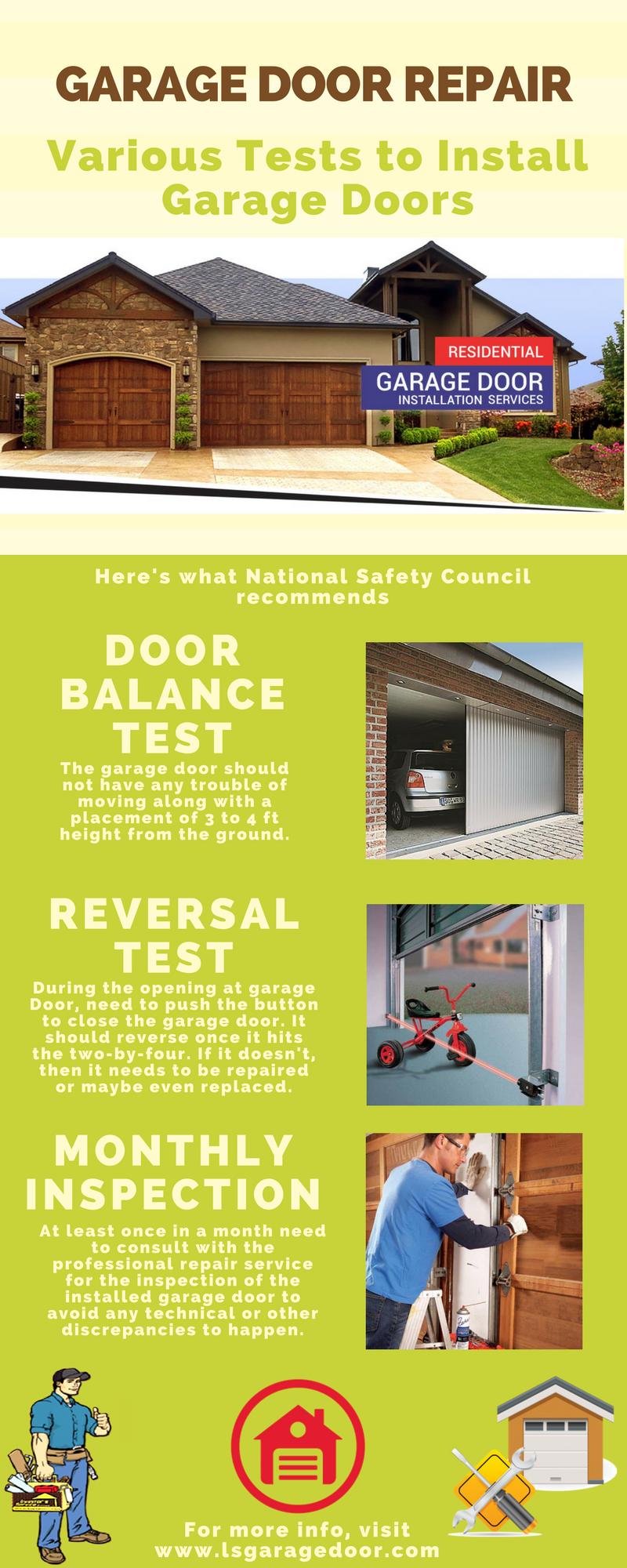 Garage Door Repair Service Requires Some Innovative Tests After