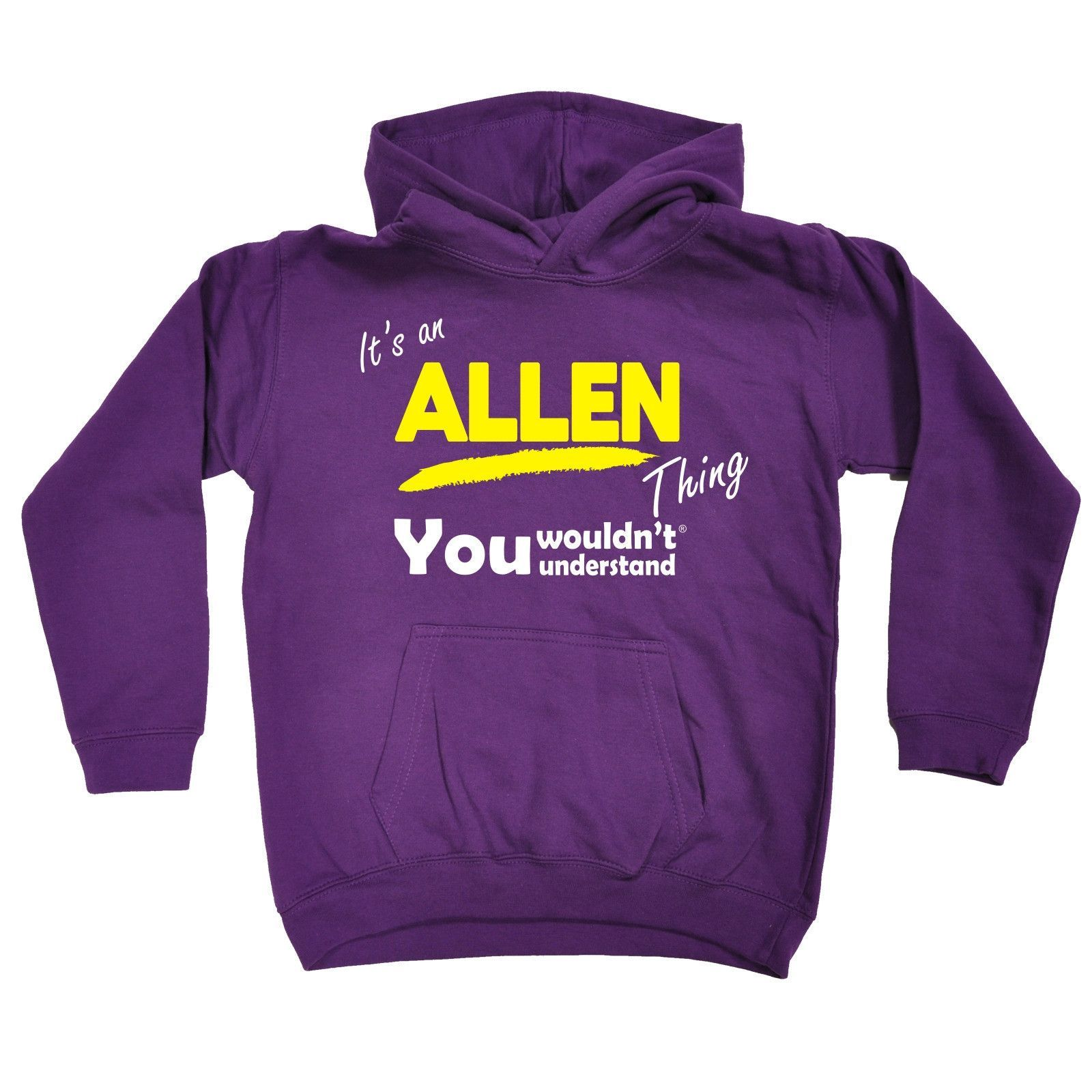 123t USA Kids It's An Allen Thing You Wouldn't Understand Funny Hoodie Ages 1-13