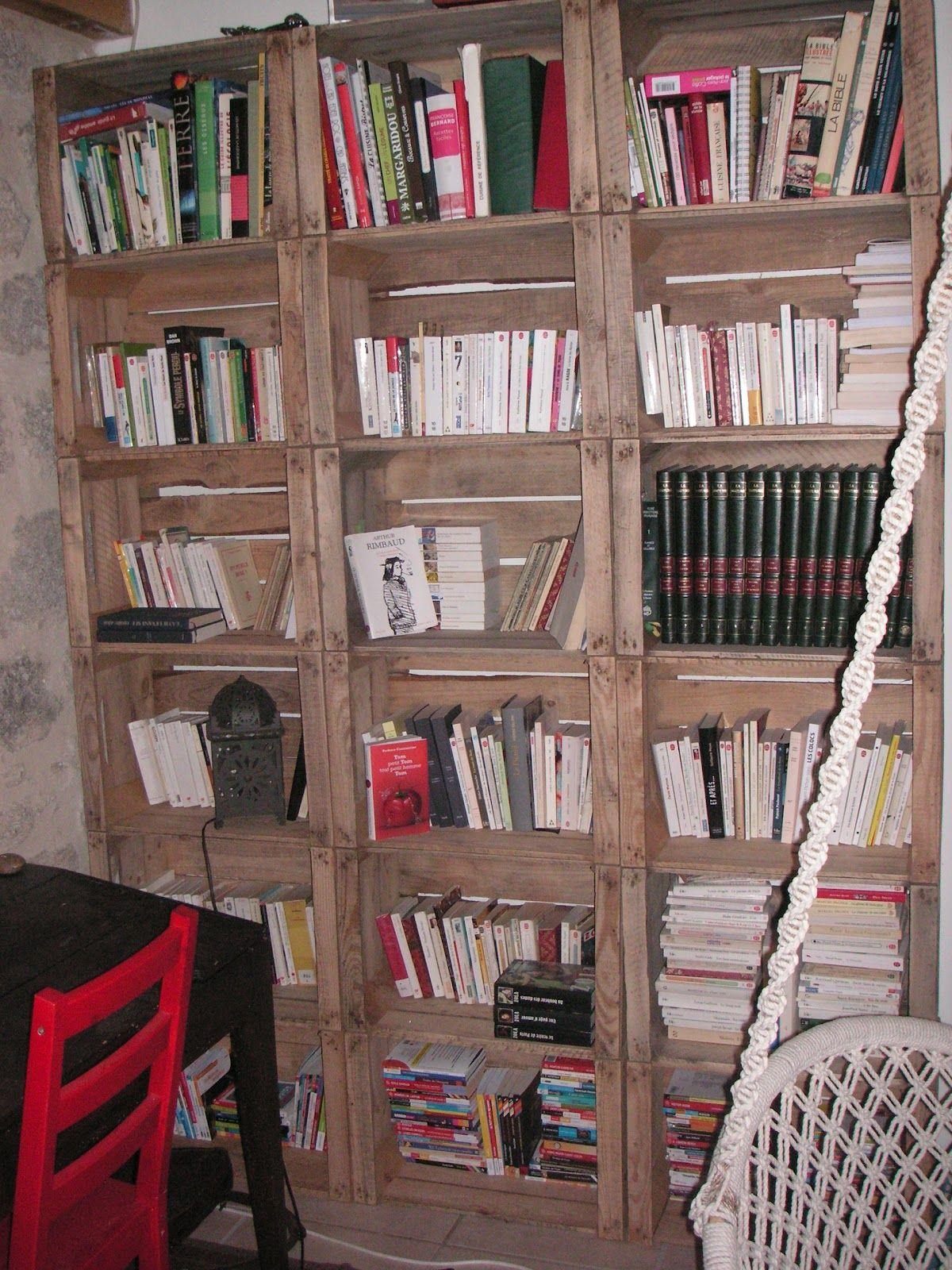 Construire Retaper Caisses De Pommes Pom Pom Pom D Co  # Construire Une Bibliotheque