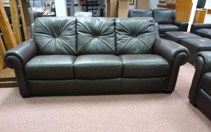 Natuzzi Editions Dark Leather sofa & Love seat B924 SEt - 2 Pieces ...