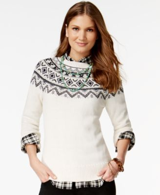 American Living Fair-Isle-Print Sweater, Only at Macy's | Clothing ...