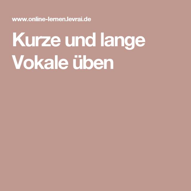 Kurze und lange Vokale üben | Alina | Pinterest | lange Vokale ...