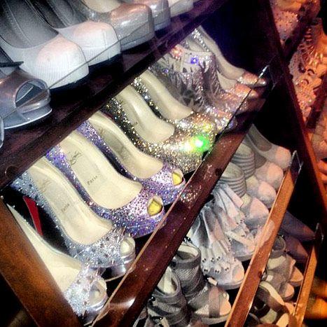 Kim Kardashians Shoe Closet Waking Up In Vegas