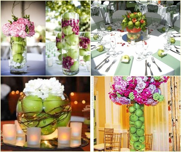 Wedding Table Decoration Ideas On A Budget: Wedding Table Decorations Using Apples