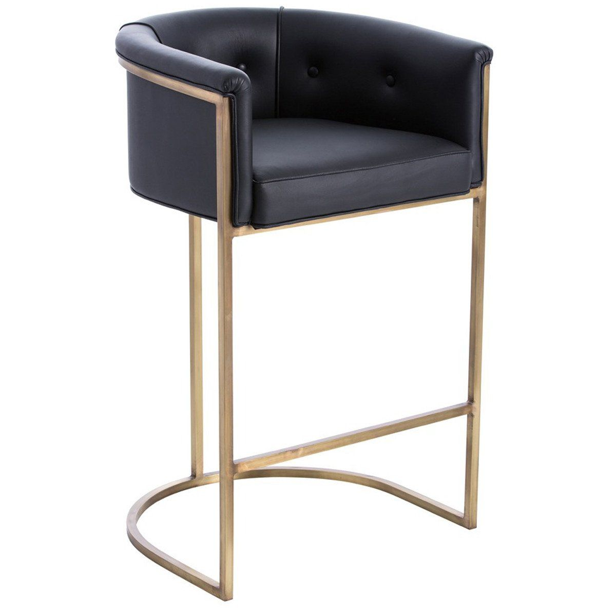 Arteriors Calvin Barstool In Antique Brass Dk Bar