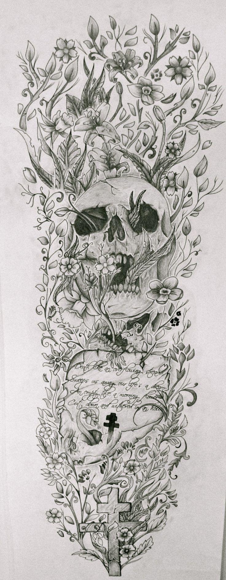 tattoo sleeve drawings Google Search Half sleeve