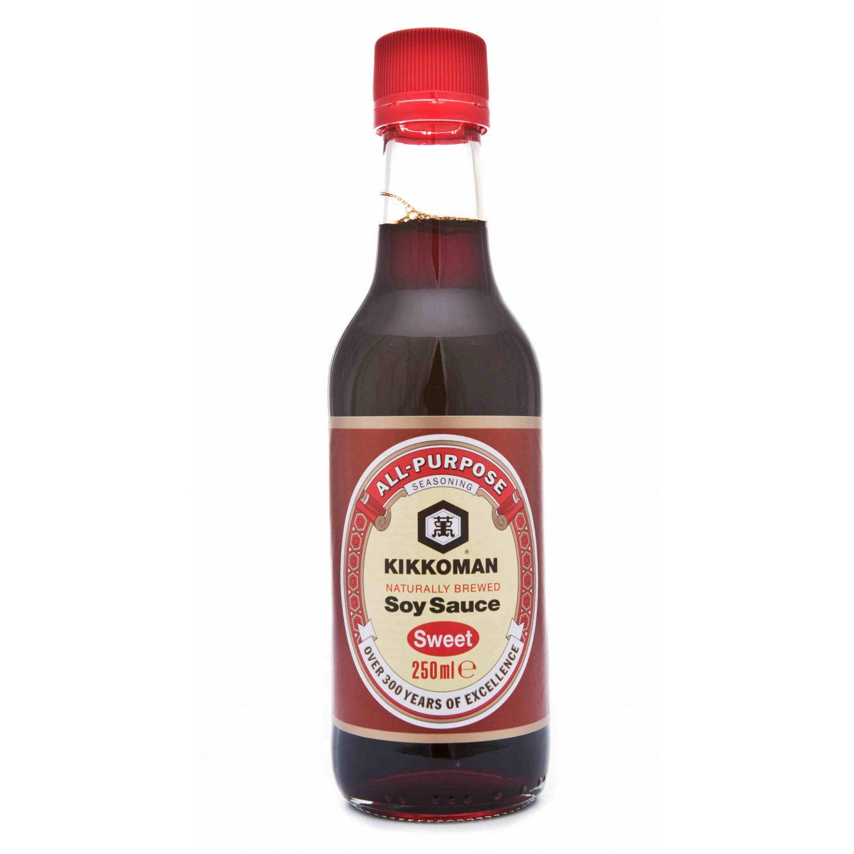 B0019 kikkoman naturally brewed soy sauce sweet 250ml