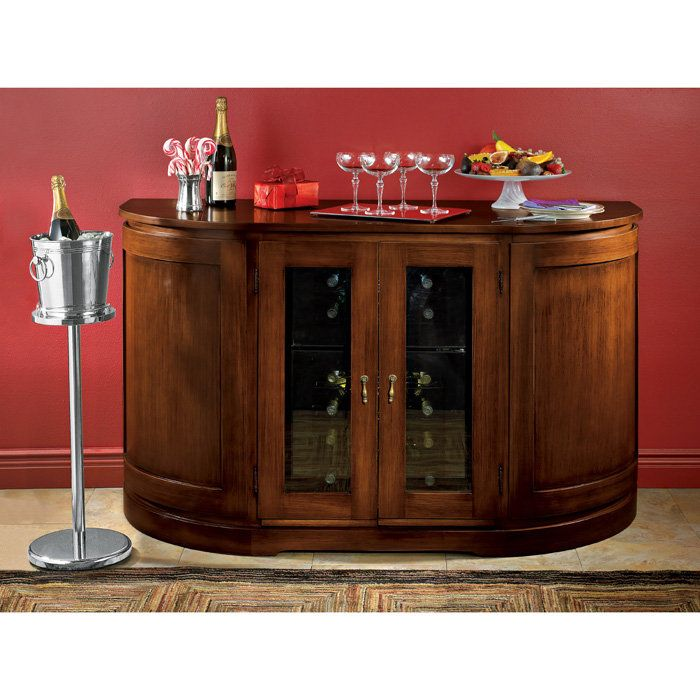 Italian Wine Console With Dual Zone Touchscreen Refrigerator By Enthusiast