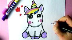 Comment Dessiner Une Licorne Kawaii Dessin Youtube Comment Dessiner Une Licorne Dessin Licorne Kawaii Dessin Licorne