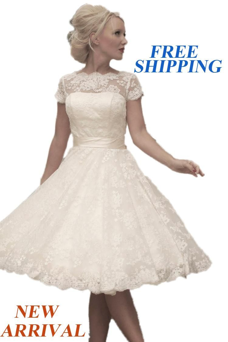 Ne sexy fashionable of bride short sleeves lace short wedding dress