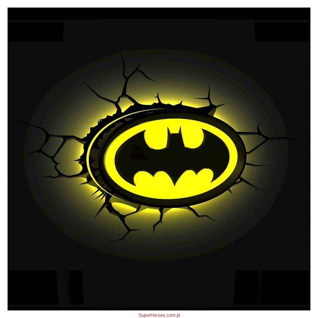 Lampka Batman 3D - logo | DC Comics | Pinterest | 3d logo, Batman ...