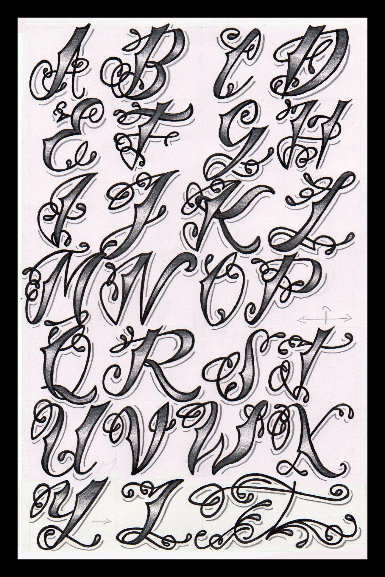 Cholo Tattoo Alphabet | Flickr - Photo Sharing!