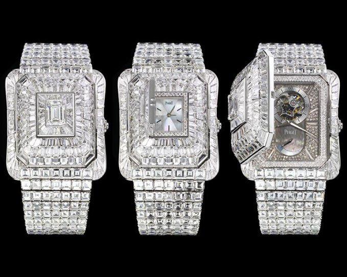 74211dfec01 Piaget Emperador Temple Watch – With 2 watches built into the diamond  bracelet. Price   3.3 million.