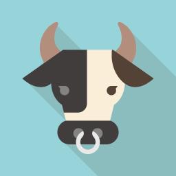Flat Icon Design フラットアイコンデザイン フラットデザインに最適 Webサイトやdtpですぐ使える商用利用可能なフラットアイコン素材がフリー 無料 ダウンロードできるサイト Flat Icon Design フラットアイコン アイコンデザイン 乳牛