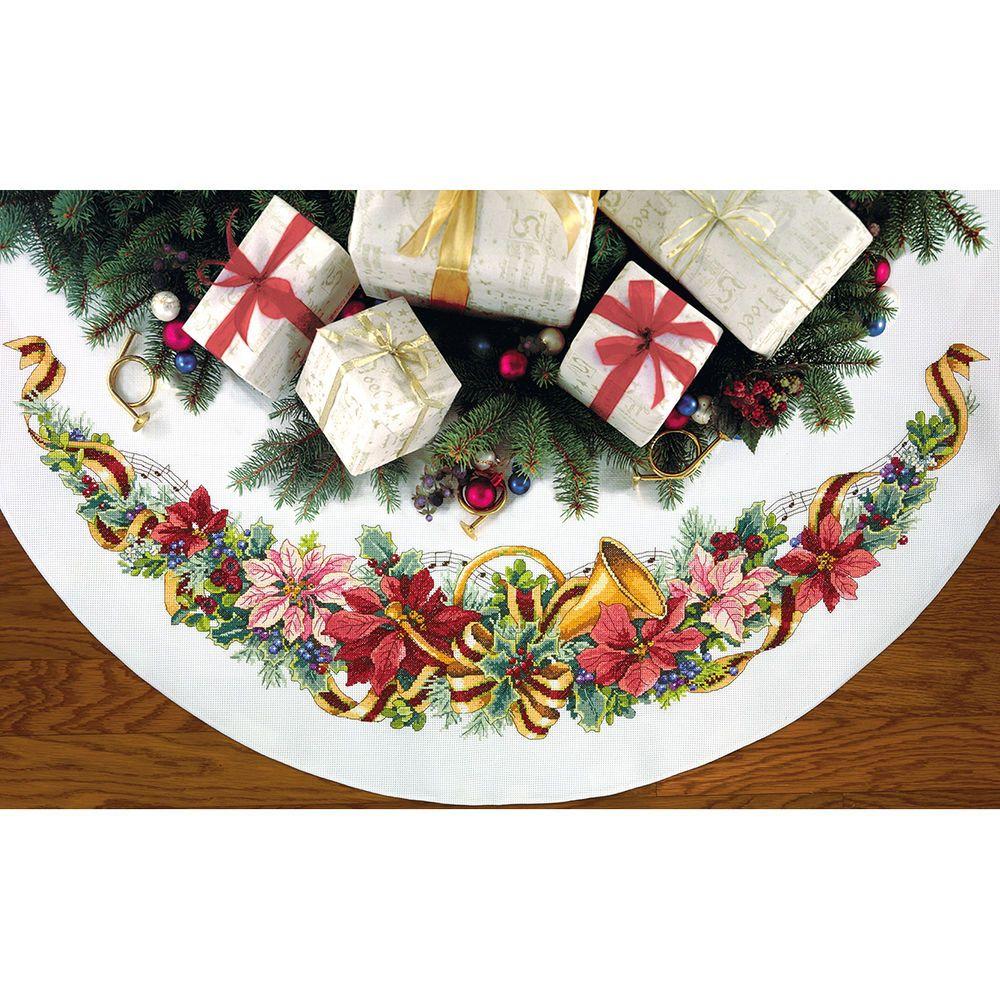 Holiday Harmony Tree Skirt Counted Cross Stitch Kit45