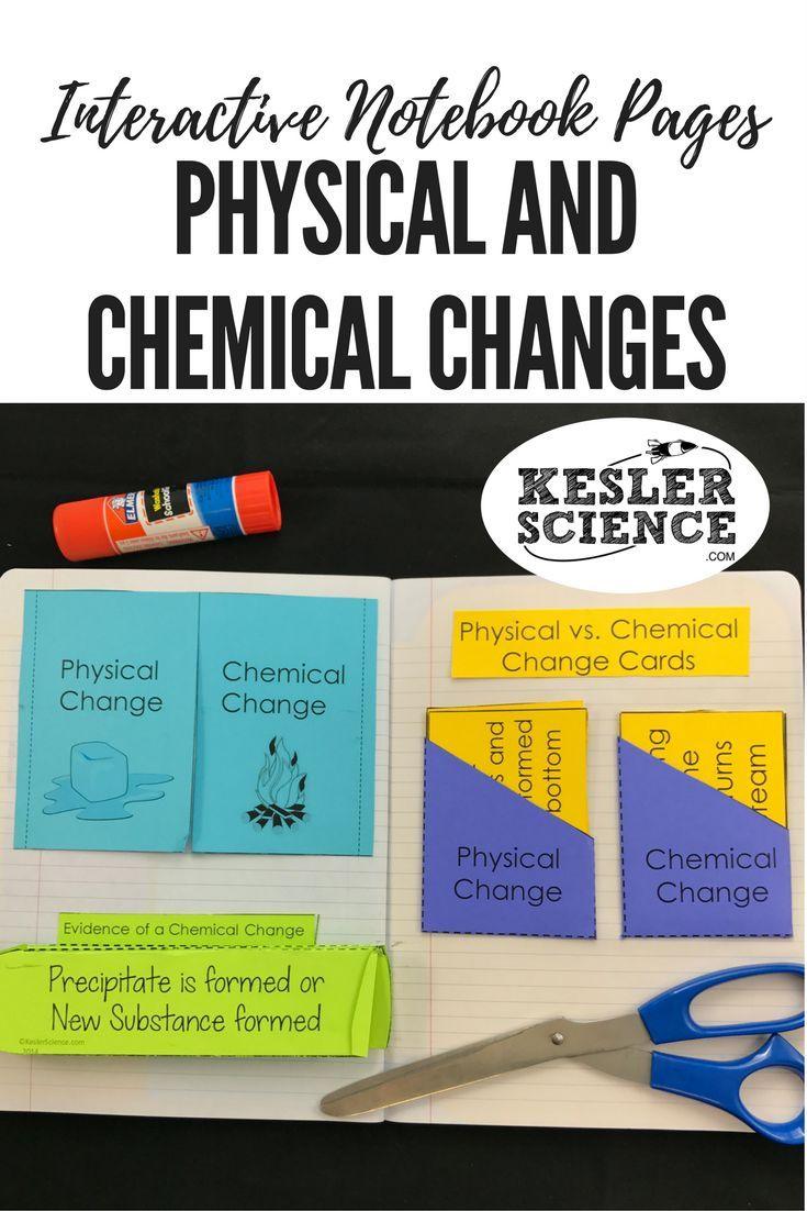 Compare and contrast examples of physical and chemical