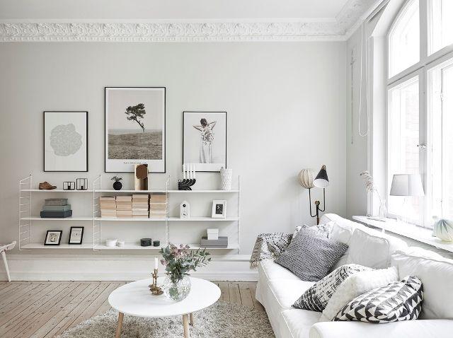 white living wohnen in weiß String Pinterest Wandfarbe - wohnzimmer weis gestalten
