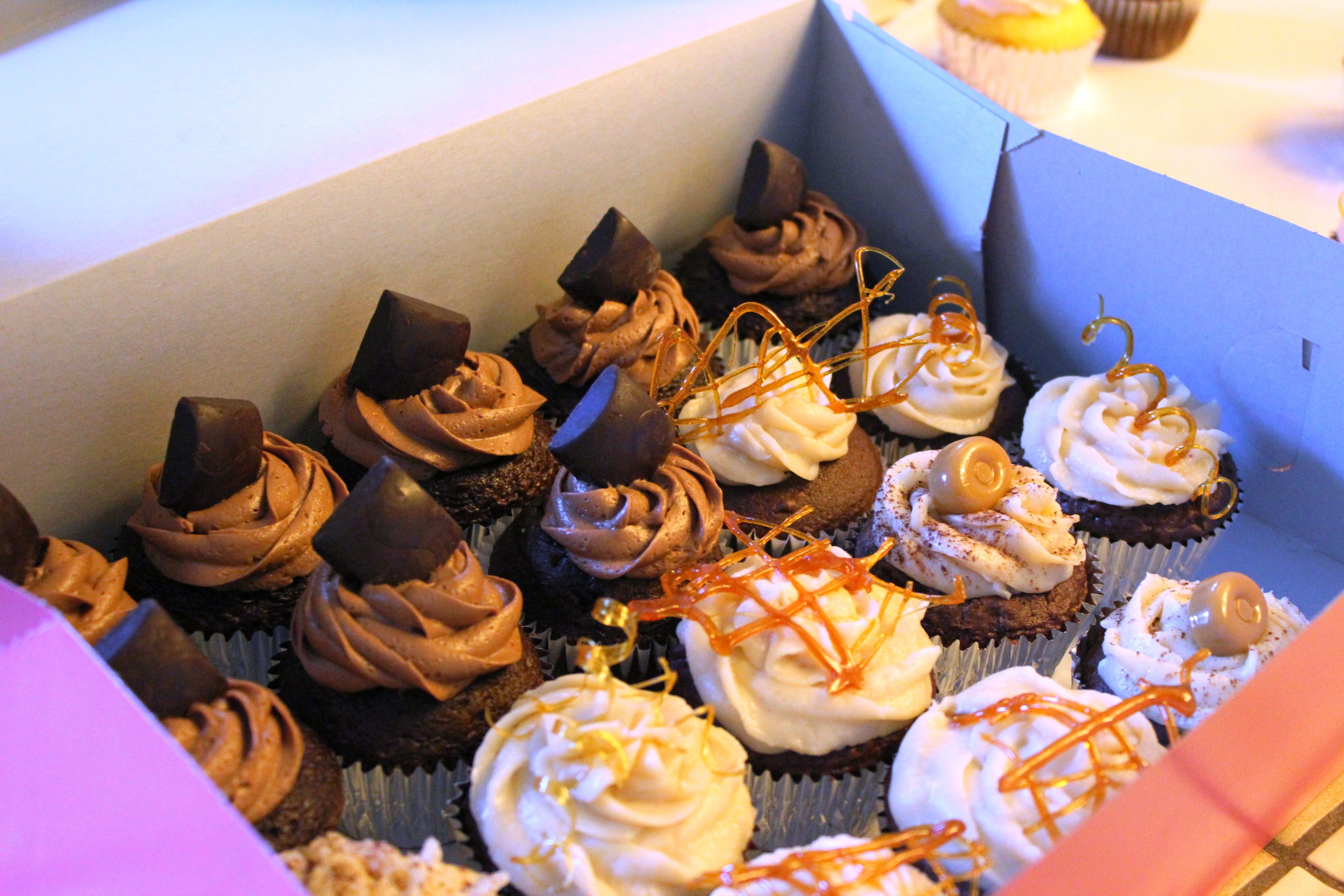 Order for chocolate whiskey cupcakes and caramel cupcakes!