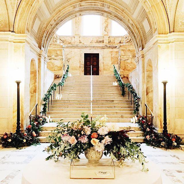 Black Tie Wedding Ideas: Boston Public Library Elegant Classic Black Tie Wedding