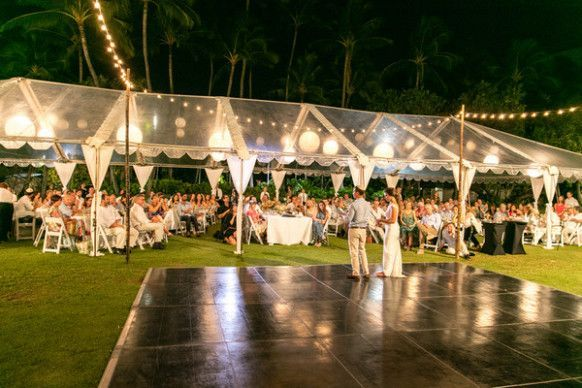 Vibrant Beach Wedding Reception Decor | Wedding reception ...