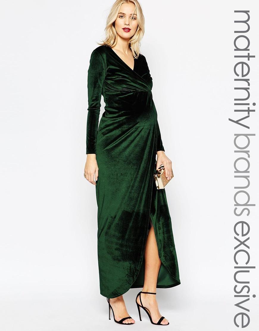 Club l maternity club l maternity velvet wrap dress at asos club l maternity club l maternity velvet wrap dress at asos ombrellifo Choice Image