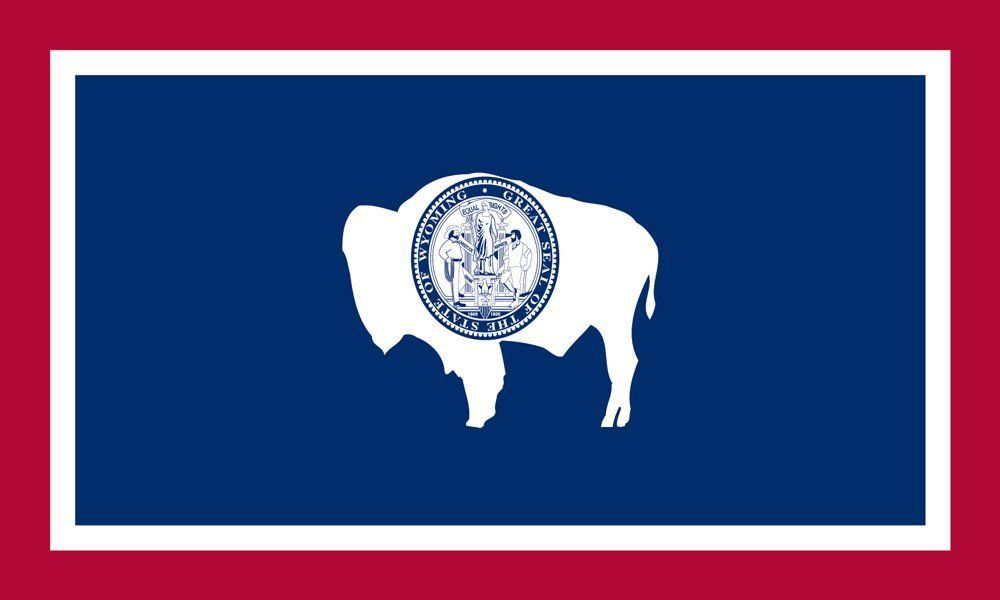 Wyoming State Flag Coloring Pages Flag Coloring Pages Wyoming State Wyoming Flag