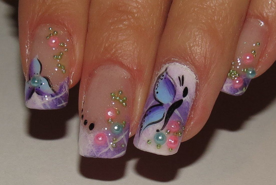 How to do ombre white and purple spring fairy nail art manicure step how to do ombre white and purple spring fairy nail art manicure step by step diy solutioingenieria Image collections