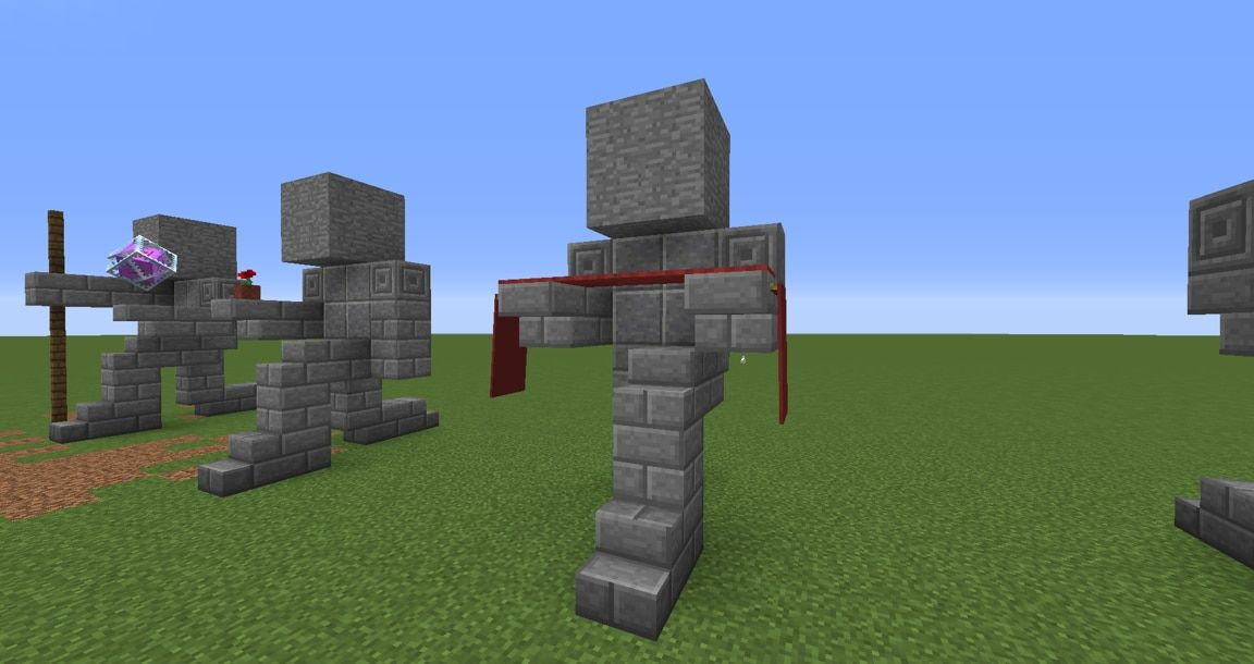 Small Kneeling Statues Easy Build For Miencraft Ideas MC - House ideas mc