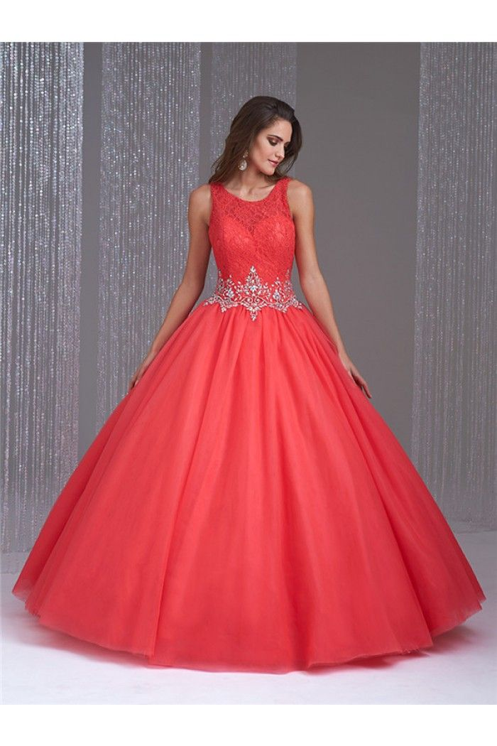 Ball Coral Long Dresses