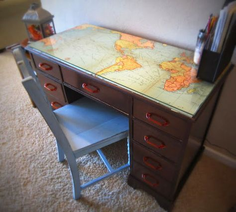 Photo of Map Decor Crafts To Make Your Home Unique