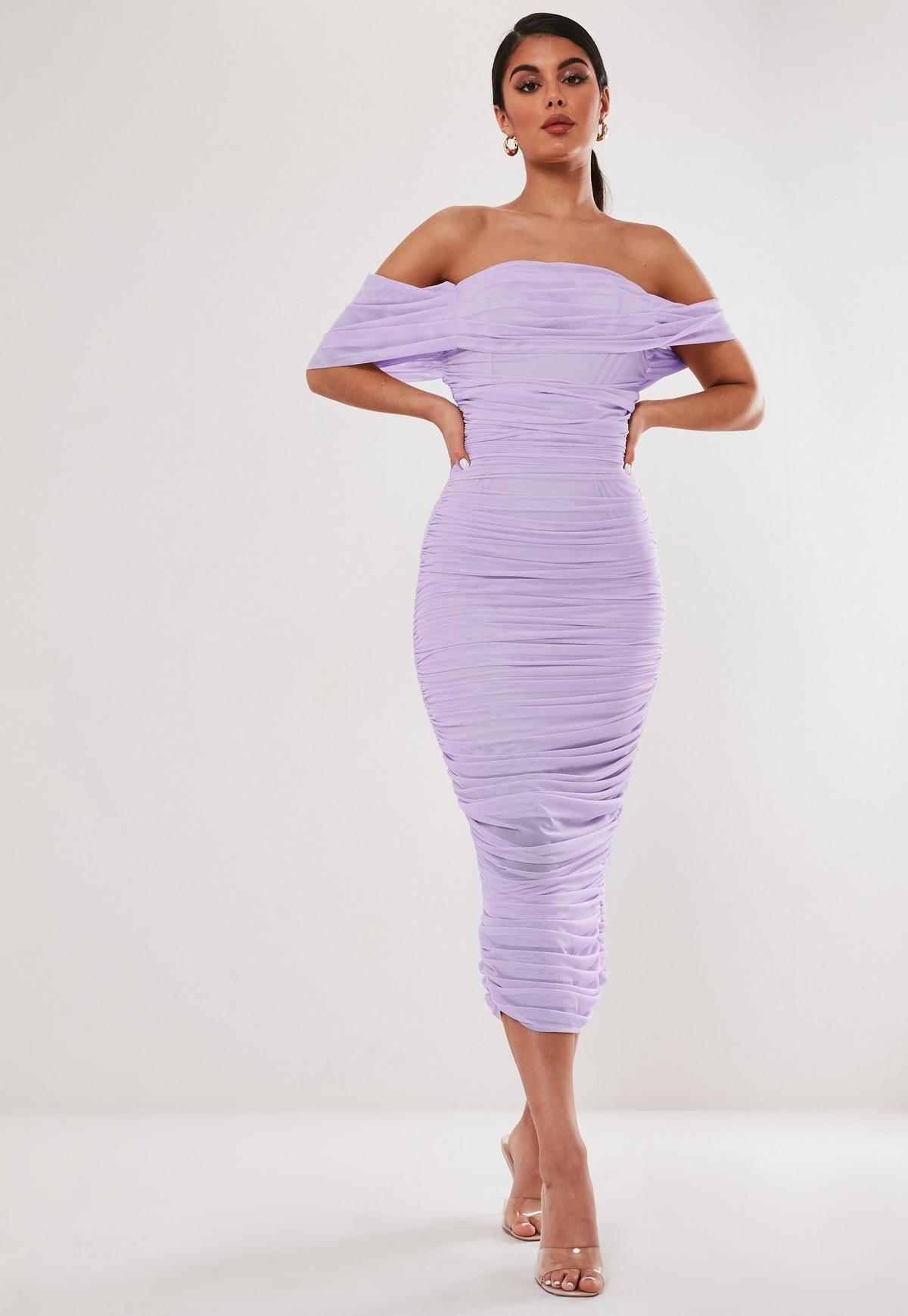 Lilac Mesh Ruched Midi Dress Pink Bodycon Midi Dress Lilac Midi Dress Ruched Midi Dress [ 1739 x 1200 Pixel ]