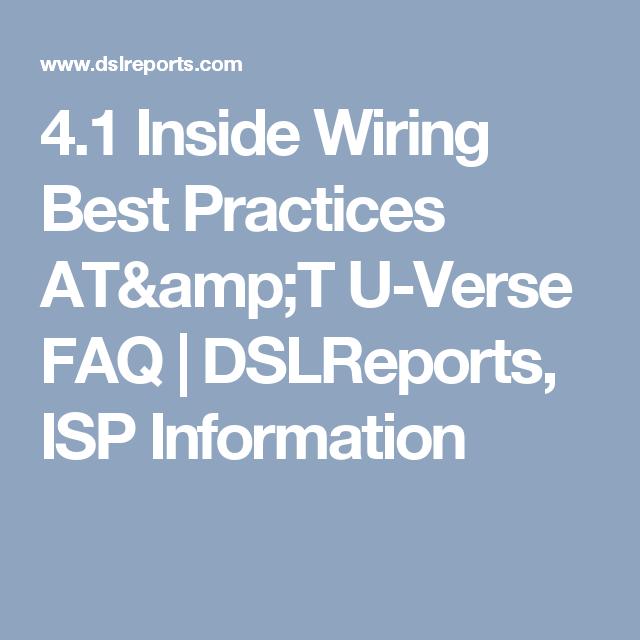 4.1 Inside Wiring Best Practices AT&T U-Verse FAQ | DSLReports, ISP ...