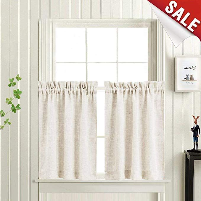 Tier Curtains For Kitchen Linen Textured Crude Window Curtains For