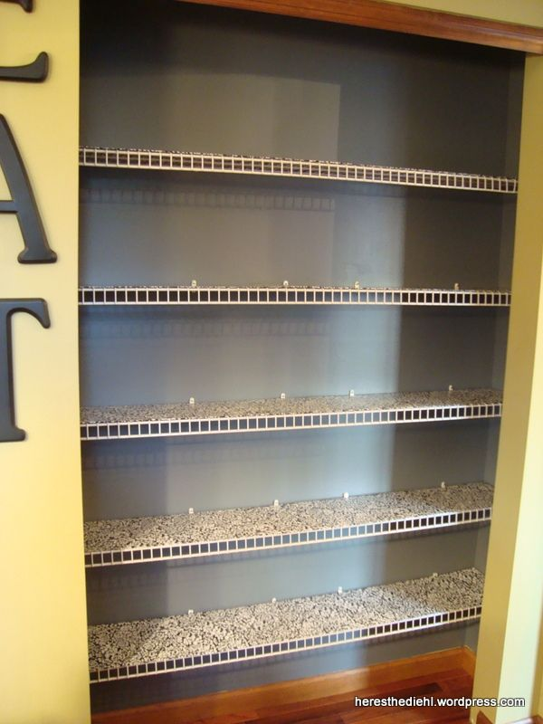 Pantry Makeover + DIY Shelf Liners for Wire Shelves | Pantry | Pinterest