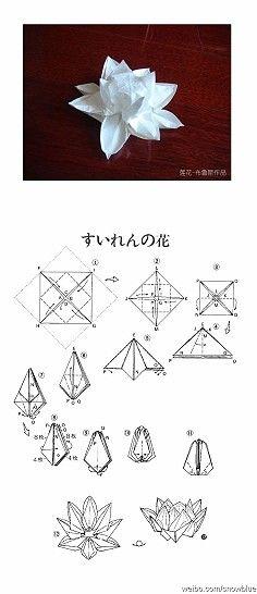 Origami Lotus With Diagrams Origami Origami Origami Lotus