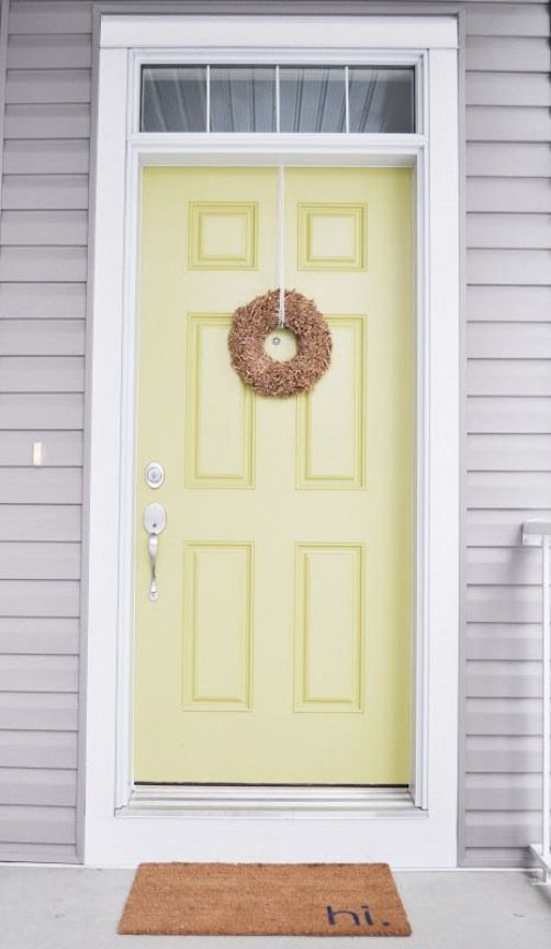 Adorable Yellow Front Door! Love this house tour! ,  Adorable Yellow Front Door! Love this house tour! ,