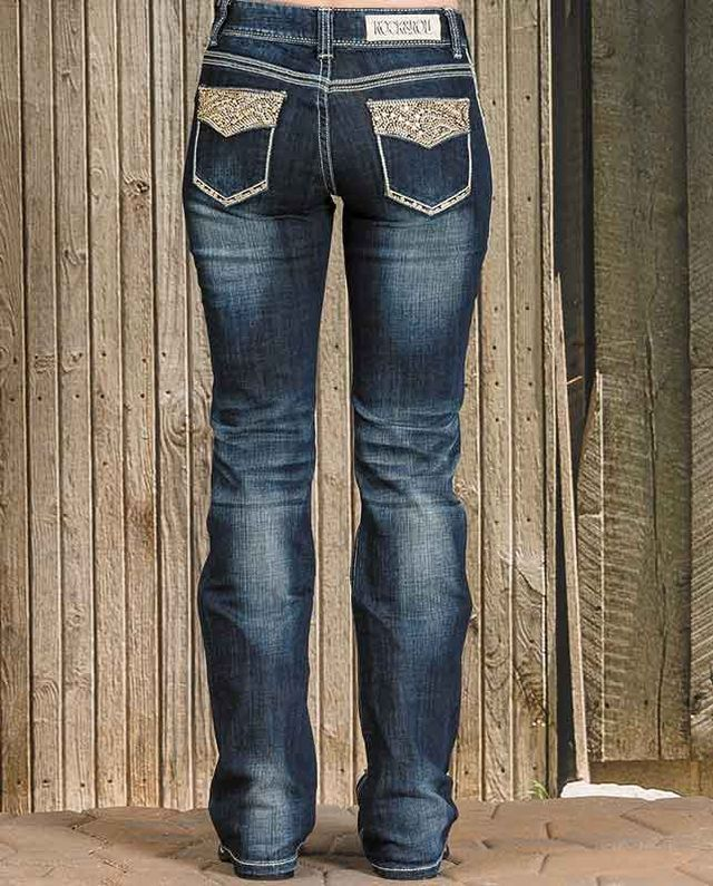 05d3e116a4f Rock   Roll Cowgirl Rival Low Rise Boot Cut Jeans - Jeans - Women s ...