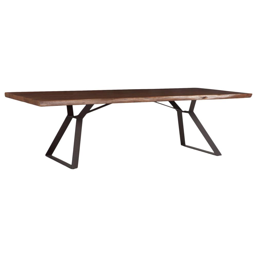 Home Trends Design London Loft Dining Table In Walnut And Antique Zinc Nebraska Furniture Mart Dining Table Home Trends Table