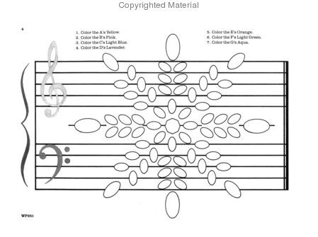 Note Designs: A Coloring Note Speller Sheet Music by Jane