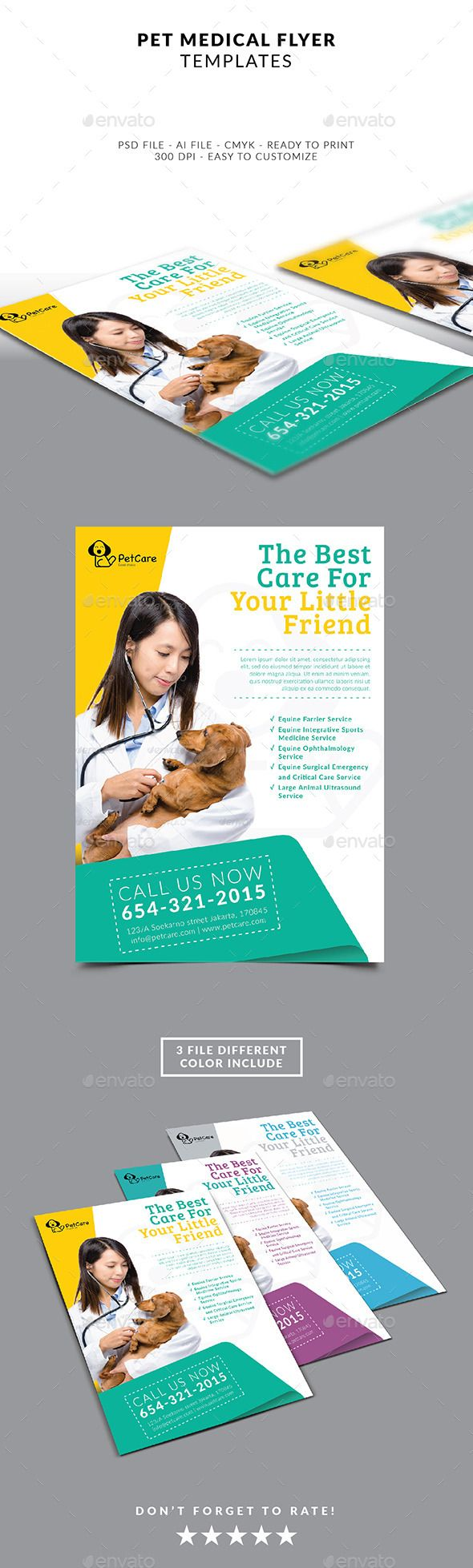 Pet Services Flyer Template   Pet services, Flyer template and Template