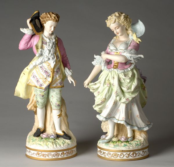 French Bisque Porcelain Portselanist Figuurid