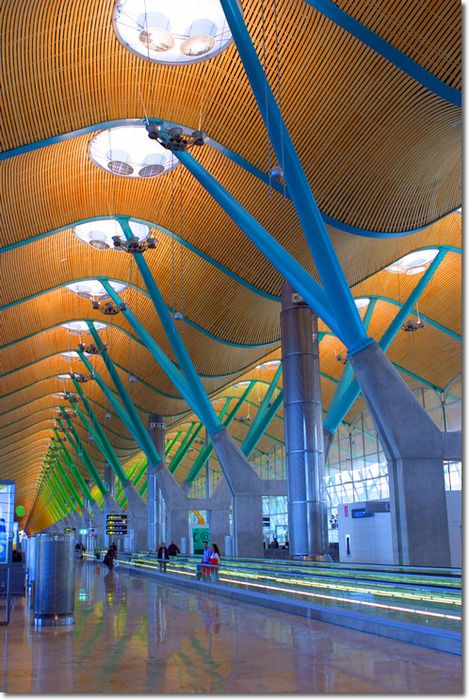 Barajas International Airport, Madrid.  Architects: Antonio Lamela & Richard Rogers