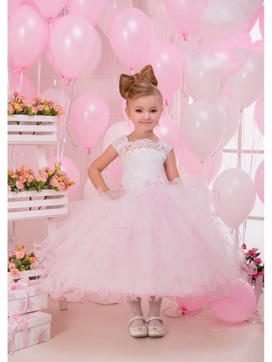 Lace Tulle Princess Ball Gown Flower Girl Dresses 5501078
