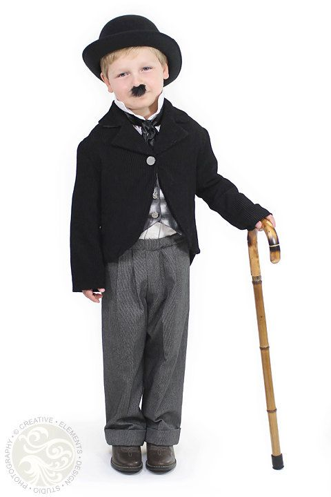 1f79f9d95be4a Child Charlie Chaplin Costume Custom Made by correenscdesigns Halloween  Costumes