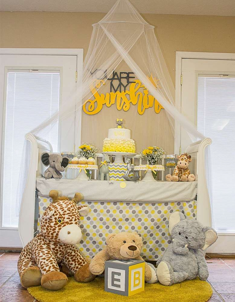 You Are My Sunshine Baby Shower Party Ideas Photo 1 Of 23 Baby